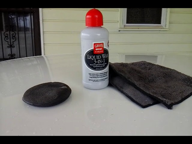 Griot's 3 in 1  liquid wax water hose beading test melt down