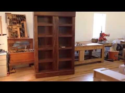 Walnut Bookcase with secret hidden compartments for jewelry