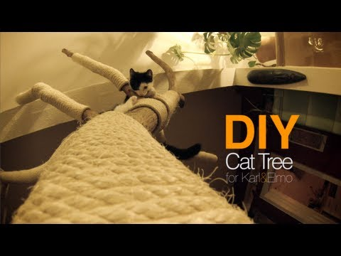 DIY Cat Tree | Cattree | Kratzbaum | D.I.Y. | Karl & Elmo