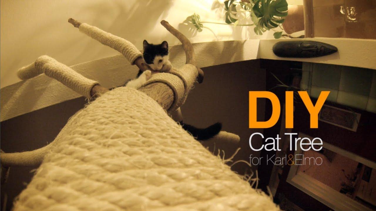 Diy cat tree cattree kratzbaum d i y karl elmo for Diy cat playground