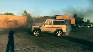 G WAGON DRIFT DIESEL POWERSLIDE BURNOUT