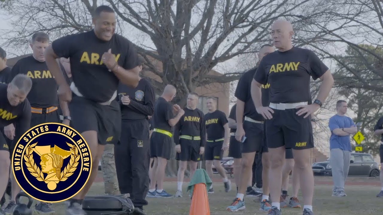 Lt. Gen. Charles D. Luckey, chief of Army Reserve and commanding general, U.S. Army Reserve Command, and U.S. Army Reserve senior leadership gathered on Fort Bragg, N.C., recently to practice the new Army Combat Fitness Test.