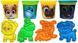 Disney Junior Puppy Dog Pals Play-Doh Molds Rolly Hissy Bingo A.R.F. Keia Color Toys