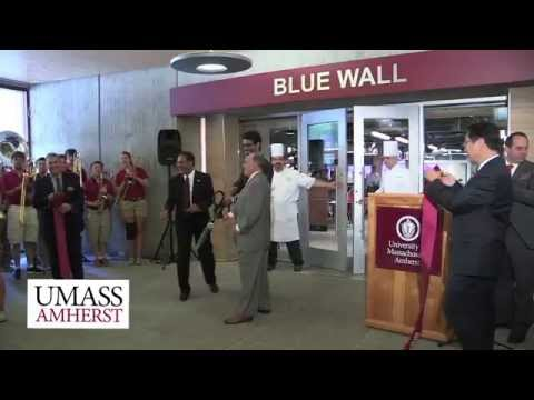 Ribbon Cutting at the new Blue Wall Eatery with Chancellor Subbaswamy