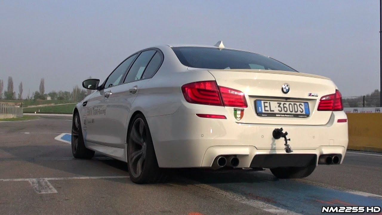 Bmw m5 f10 launch powerslides and revs youtube