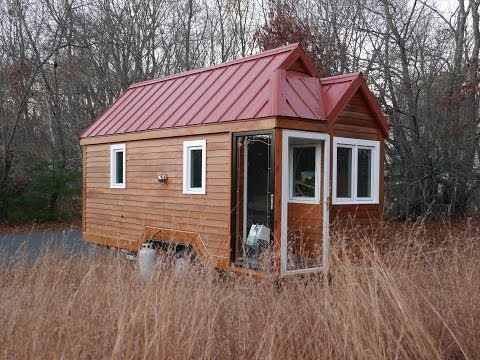 School Teacher's Tiny House On Wheels with a Passive Solar Foyer (small home) Music Videos