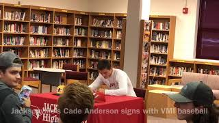 Jacksonville High School's Cade Anderson to play baseball for The Virginia Military Institute
