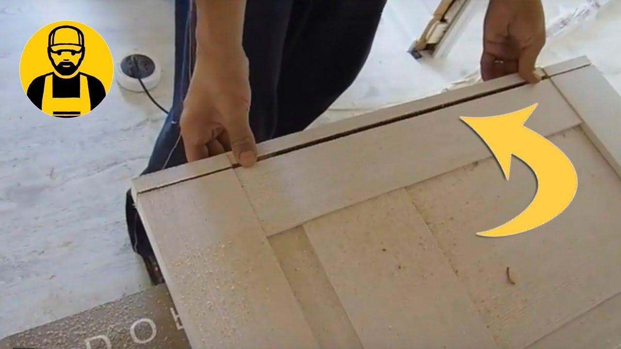 Как подрезать дверь снизу своими руками 25