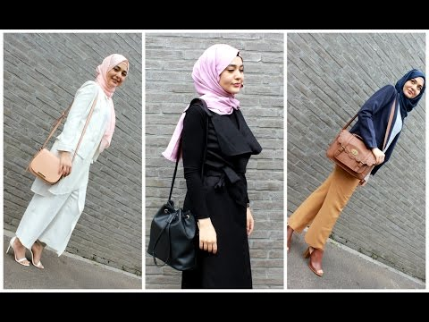 3 Formal Hijabi OOTD's | Muslim Queens by Mona