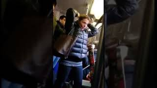 Crazy Racist Lady Goes On A Rampage On The  D Train