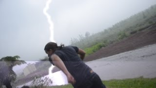 BOOOM!! UFO Sightings UFO Reporter Struck By Lightning [RAW VIDEO] Dangerous Situation!!! 2015