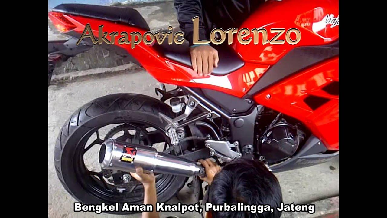knalpot ninja 250 fi akrapovic lorenzo custom titan