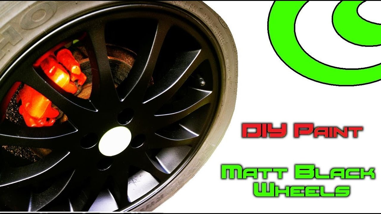 diy paint respray of car alloy wheels rims in matt black. Black Bedroom Furniture Sets. Home Design Ideas