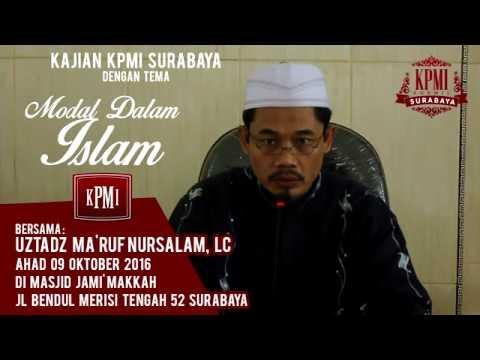 Modal Dalam Islam - Ustadz Ma'ruf Nursalam