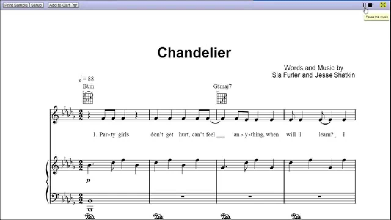 Chords Piano Chandelier In