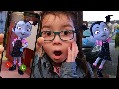 I CALLED VAMPIRINA in REAL LIFE and SHE ANSWERED then CAME TO MY HOUSE