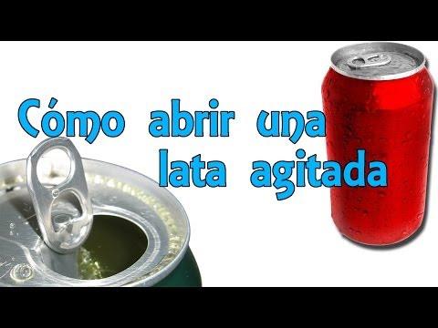 Cómo Abrir Una Lata Agitada Sin Que Se Derrame - Life Hacks Español (Experimentos Caseros)