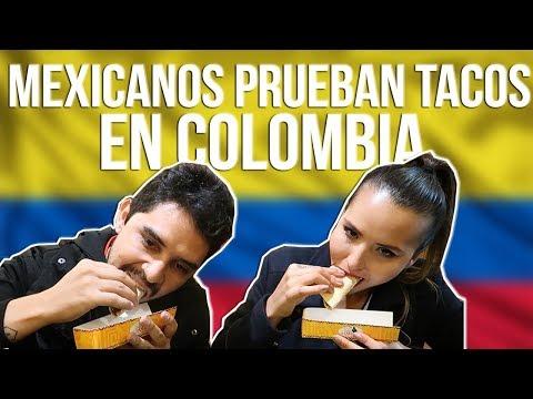 MEXICANOS PRUEBAN TACOS EN COLOMBIA