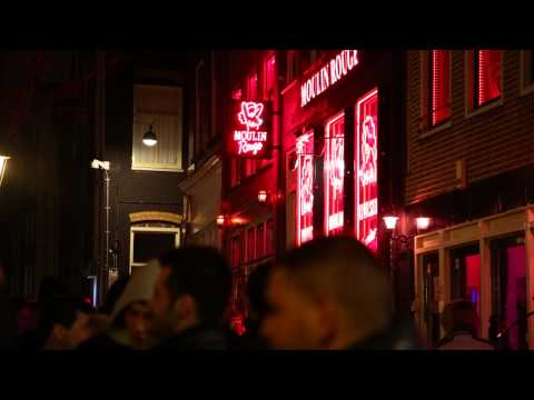 Amsterdam Red Light District Walk Through