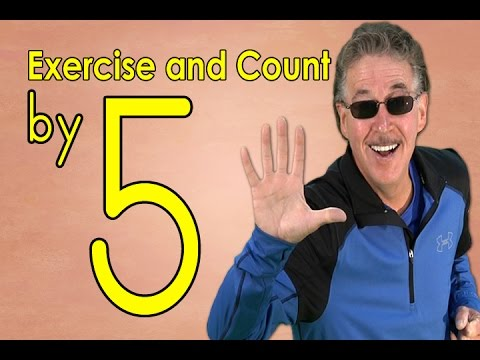 Count by 5's | Exercise and Count By 5 | Count to 100 | Counting Songs | Jack Hartmann