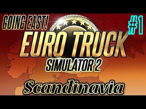 Euro Truck Simulator 2 Scandinavia and Going East DLC W/G27 wheel Cam DLC Part 1
