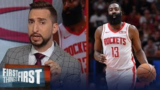 Rockets will be 1 seed in the West with unstoppable offense — Nick Wright | NBA | FIRST THINGS FIRST
