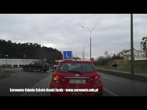 Trasy Egzaminacyjne PORD Gdynia - Nauka Jazdy - Euromoto Film 022