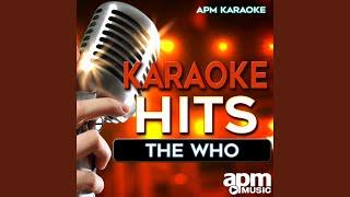 Apm Karaoke Baba Oreilly Teenage Wasteland Karaoke Version