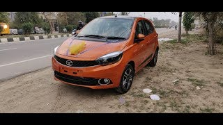 Taking delivery of Tata Tiago xz+ (p) new model. With short review. Check link for accessories.