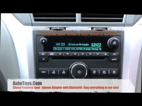 Chevy Traverse IPOD & BLUETOOTH.  Iphone Aux PXAMG with ISBT21 Kit by Autotoys Isimple (a2DP)
