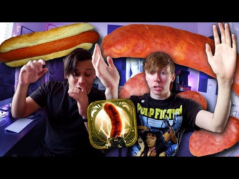 2 BOYS, MANY WIENERS... Sausage Legend Fighting Game (2 Player iPhone Game)