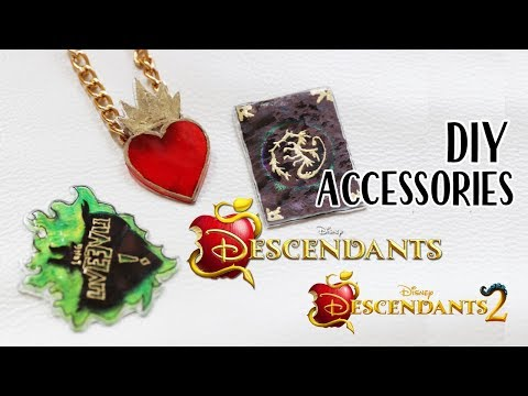 DESCENDANTS 2 DIY ACCESSORIES - Evie's Necklace, Mal's Spellbook and more