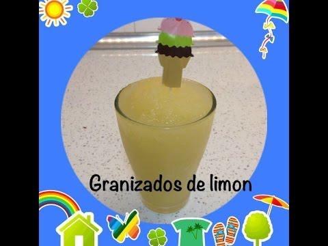 Granizado de limon casero muy facil/easy lemon granita - YouTube