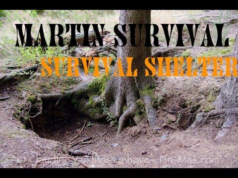 Survival dugout shelter