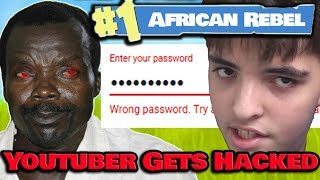 African Rebel Kony HACKS Youtuber & Takes His Verified Channel!