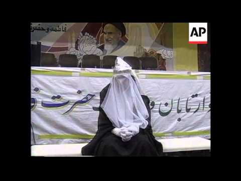 TEHRAN: IRAN:  WOMEN'S WEEK OPENED BY PRESIDENT KHATAMI