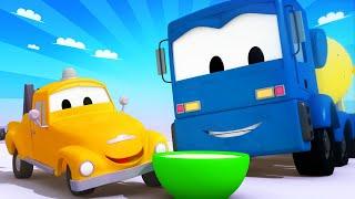 Xe tải kéo cho trẻ em - XE TRỘN XI-MĂNG Christopher làm quá tải ĐỘNG CƠ - Phim hoạt hình về xe tải
