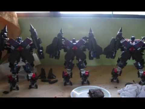 transformers ROTF custom power up prime and leaderclass grindor-blackout