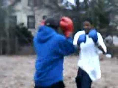 A very good Backyard fight to a street fights in the back of my house in chicago il crazy fight he almost got knocked out so when you be thinking its sweet l...