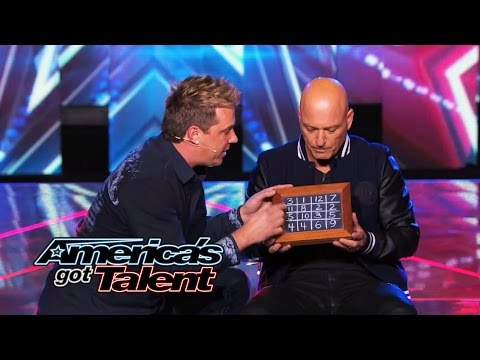 Mike Super: Mystifier Uses Howie Mandel for Mathematical Magic - America's Got Talent 2014