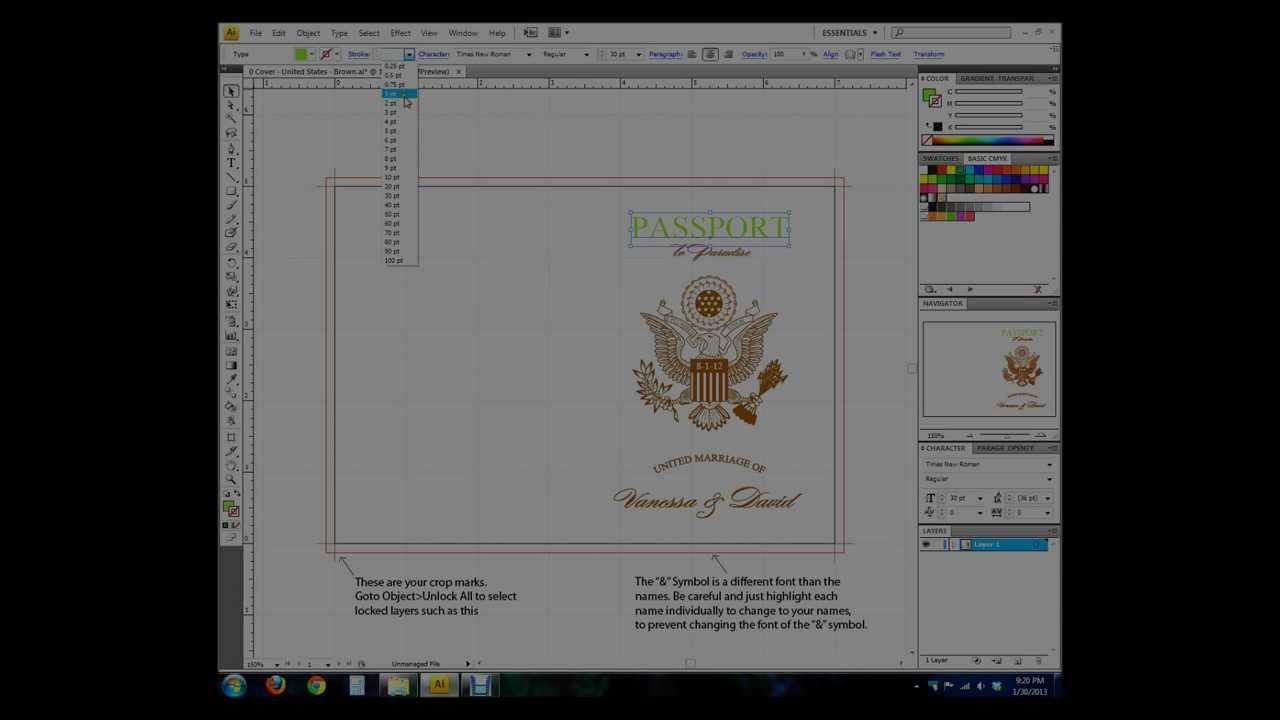 Vanessa 39 S Destination Wedding Invitations Intro To Adobe Illustrator P