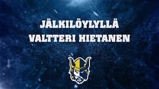 Jälkilöylyllä Valtteri Hietanen