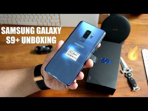 Samsung Galaxy S9+ Unboxing Hands On : Exynos Coral Blue India Retail