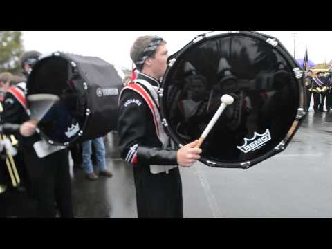 Roseburg High School Marching Band Drum Line at Veterans Day Parade