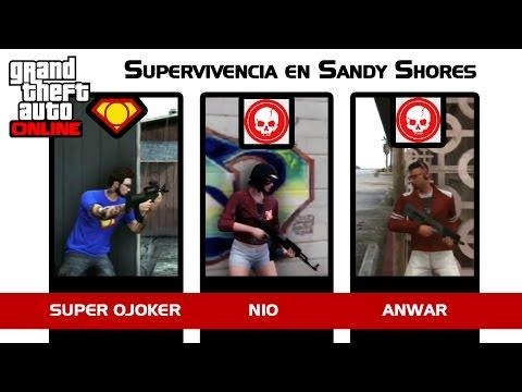 Random Videojueguil #29 - GTA Online con Nio y Super Ojoker - Supervivencia - Sandy Shores