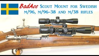 Badace Swedish M38 M96 Scout Mount Gen 2 - Easy Install, No Drill Tap