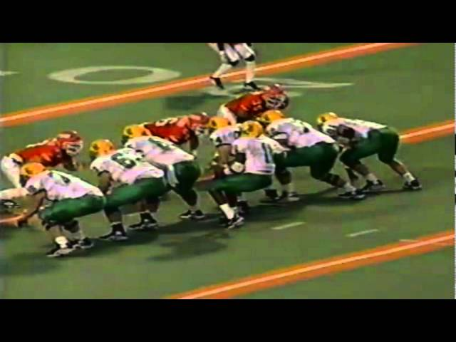 Oregon WR Bobby Nero 17 yard reception vs UTEP 9-12-1998