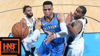 Oklahoma City Thunder vs San Antonio Spurs Full Game Highlights / March 10 / 2017-18 NBA Season