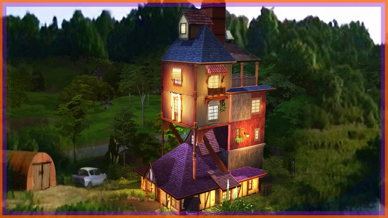 Building THE WEASLEYS BURROW L Sims 4 Harry Potter