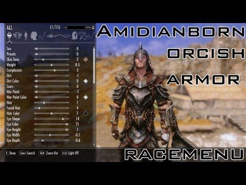 Skyrim AmidianBorn Orcish Armor, RaceMenu